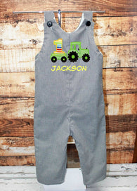 Boys Birthday Tractor Jon,Boys Birthday Jon,First Birthday Jon,Applique Embroidered Jon