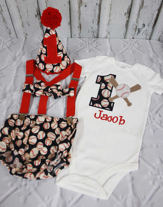 Boys Cake Smash OutfitBaseball OutfitBoys First Birthday Clothes