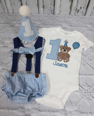 Boys Teddy Bear Cake Smash,Boys Cake Smash,Teddy Bear First Birthday Outfit