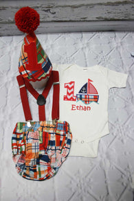 Boys Sailboat Cake Smash,Boys Cake Smash,Sailing Cake Smash,Beach Cake Smash Outfit