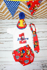 Boys Paw Patrol Cake Smash,Boys Cake Smash,Paw Patrol First Birthday Clothes