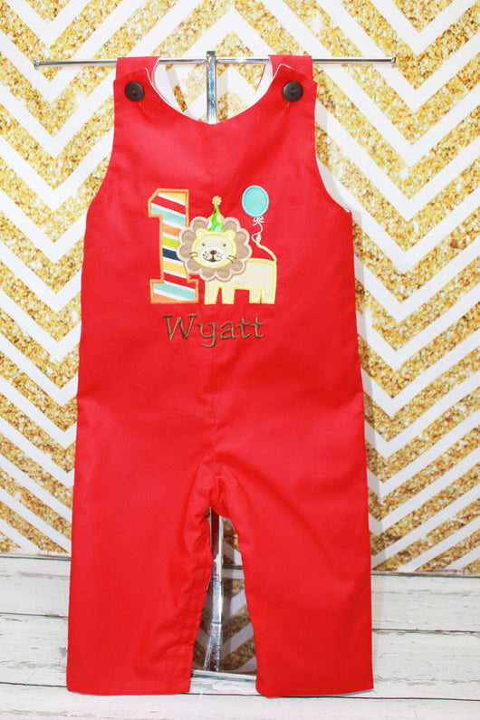 Boys Birthday Circus Jon,Boys Birthday Jon,First Birthday Jon,Applique Embroidered Jon