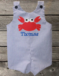 Boys Birthday Crab Jon,Boys Birthday Jon,First Birthday Jon,Applique Embroidered Jon
