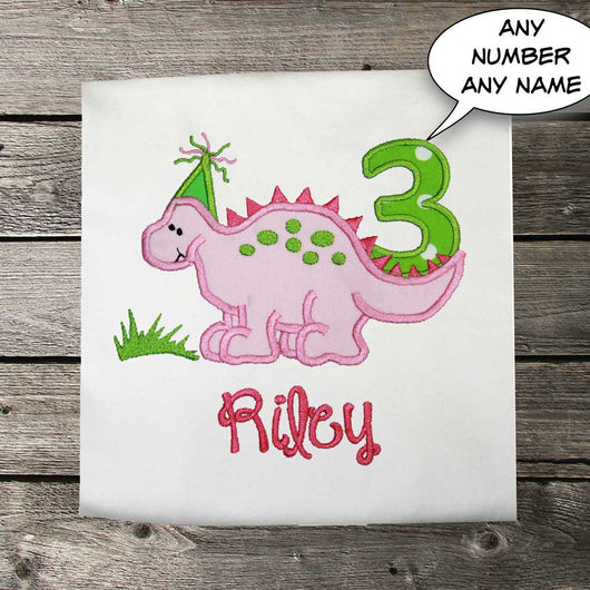 Girls Birthday ShirtGirls Dinosaur ShirtFirst Shir TipTopKidsDesigns