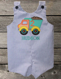 Boys Birthday Dump Truck Jon,Boys Birthday Jon,First Birthday Jon,Applique Embroidered Jon