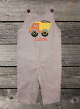 Boys Dump Truck Jon,Boys Thanksgiving Jon,Boys Fall Jon,Boys First Thanksgiving Outfit,Appliquéd Embroidered Jon Jon Shortall Longall