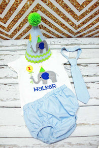 Boys Cake Smash Outfit,Elephant Cake Smash Outfit,Boys First Birthday Clothes