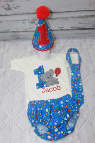 Boys Elephant Cake Smash,Boys Cake Smash,Elephant First Birthday Clothes