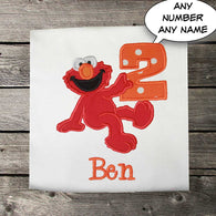 Boys Birthday Shirt,Boys Elmo Birthday Shirt