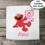 Girls Birthday Shirt,Elmo Birthday Shirt