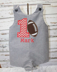 Boys Birthday Football Jon,Boys Birthday Jon,First Birthday Jon,Applique Embroidered Jon