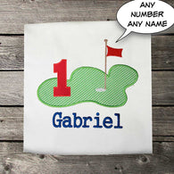 Boys Golf Birthday Shirt,Boys Birthday Shirt,Boys Golf Shirt,Appliqué Embroidered Shirt