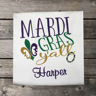 Girls Mardi Gras Shirt,Mardi Gras Ya'll,Girls T shirt or Bodysuit, Embroidered Shirt or Bodysuit