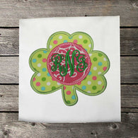 Girls St Patricks Shirt,Girls Shamrock Shirt,Girls T shirt or Bodysuit, Appliqué Embroidered