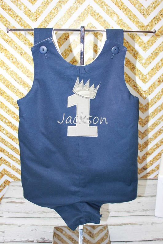 Boys Birthday Jon,Boys Prince Birthday Jon, Boys Applique Embroidered Jon