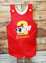 Boys Birthday Farm Jon,Boys Birthday Jon,First Birthday Jon,Applique Embroidered Jon