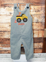 Boys Construction Birthday Jon,Boys Dump Truck Birthday Jon,First Birthday Jon,Applique Embroidered Jon