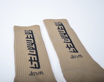 TT Down Beige Socks