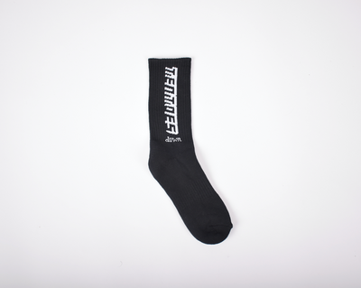 TT Down Black Socks