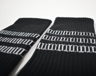 TT Pattern Black Socks