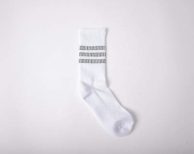 TT Pattern White Socks