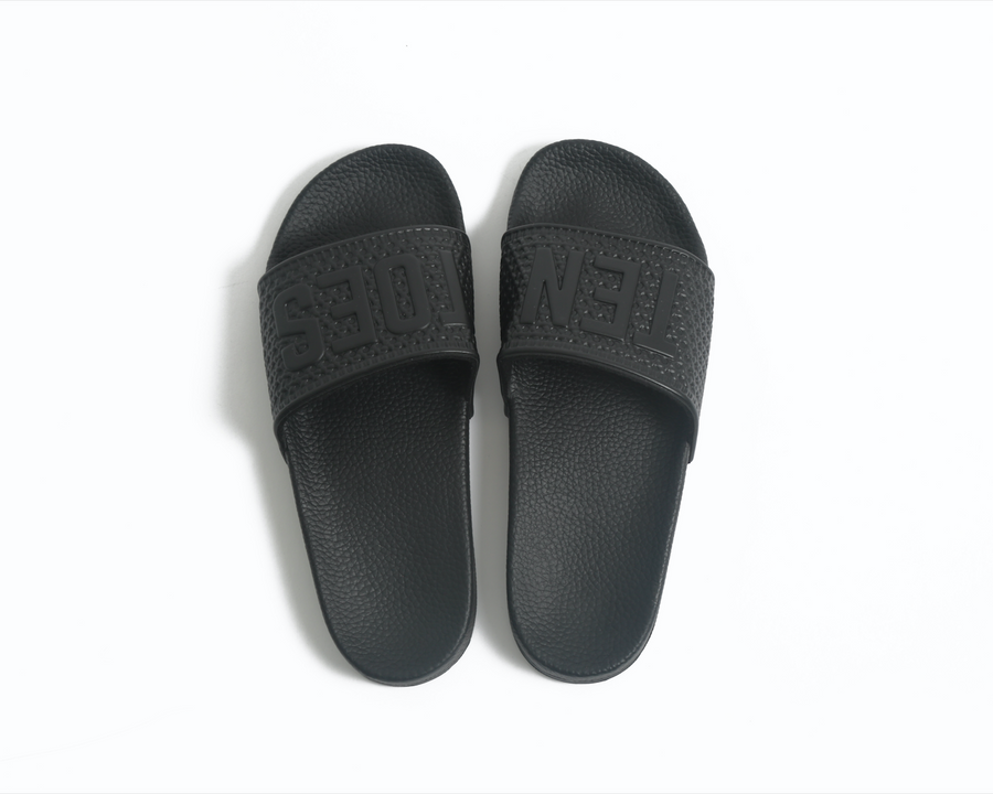 TenToes X MANNA Triple Black Slides
