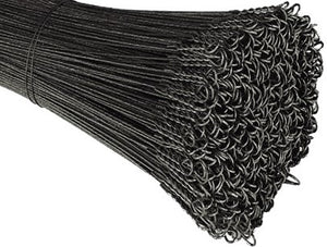 13 Gauge Single Loop Black Annealed Bale Ties - BalerWire.com
