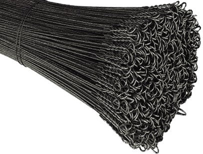 12 Gauge Single Loop Black Annealed Bale Ties - BalerWire.com