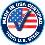 Made in the USA - 100% Certified  U.S. Steel