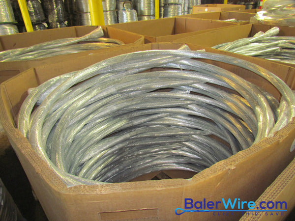 12 Gauge Single Loop Galvanized Bale Ties - BalerWire.com