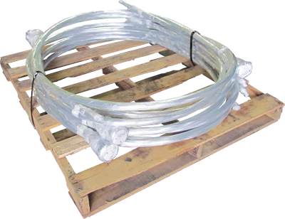 12 Gauge x 21 Feet Galvanized Single Loop Bale Ties - PALLET OF 25 BUNDLES! - BalerWire.com