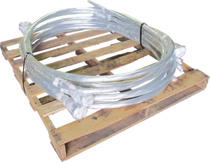 14 Gauge x 10 Feet Galvanized Single Loop Bale Ties - PALLET OF 40 BUNDLES! - BalerWire.com