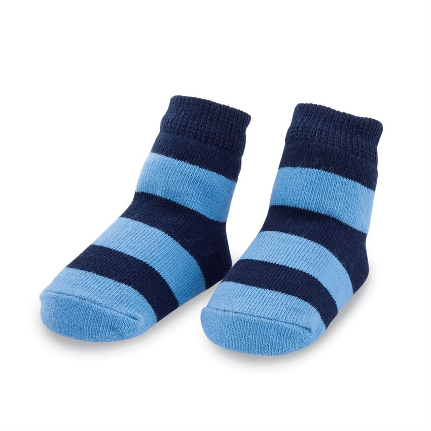 NAVY WIDE STRIPE SOCKS