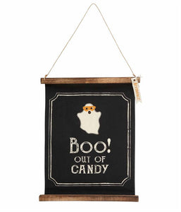 REVERSIBLE HALLOWEEN CANVAS SIGN