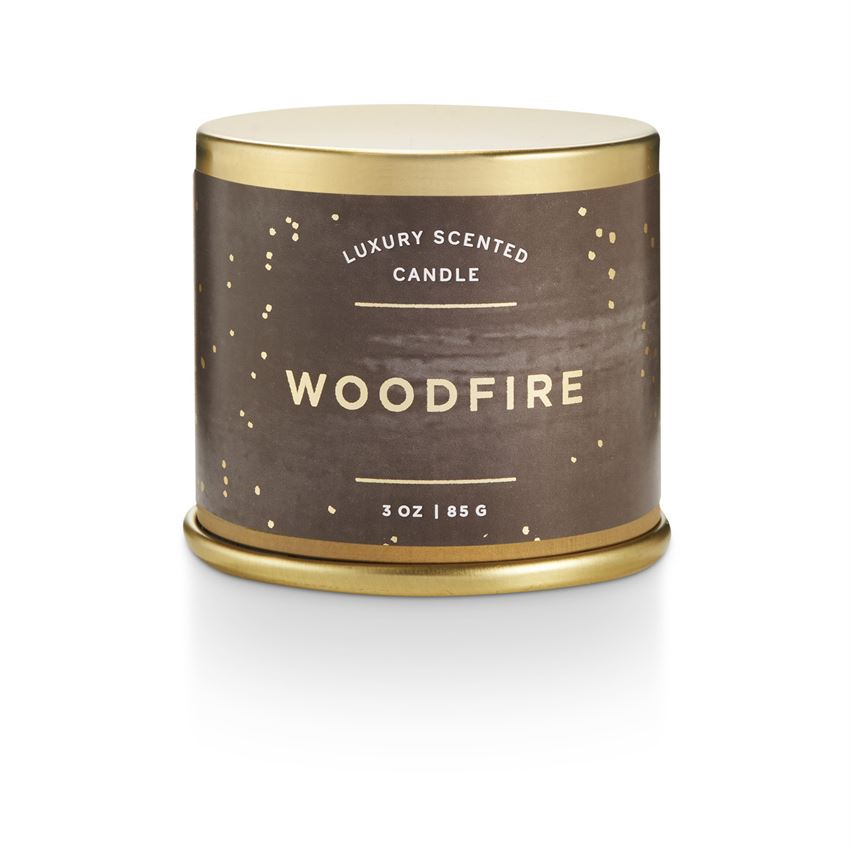 Woodfire Demi Tin Candle