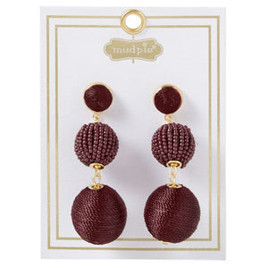 Tiered Drop Ball Statement Earings