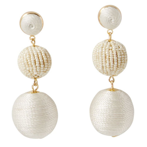 Tiered Drop Ball Earrings