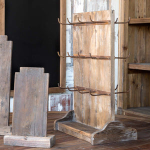 Wooden Two-Sided Display Rack