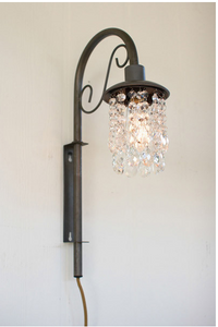 Swinging Wall Sconce with Glass Gems Lighting