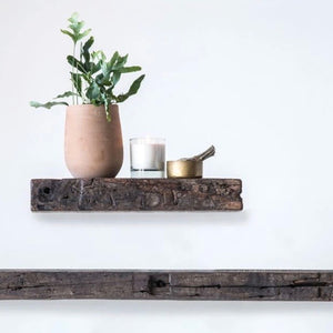 RECLAIMED WOOD WALL SHELF