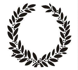 Stencil - Vintage Laurel Wreath