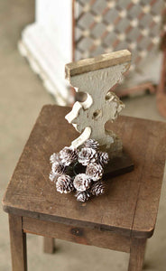 SNOW PINECONE CANDLE RING