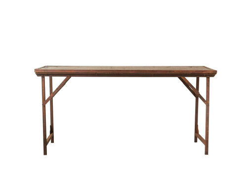 Found Wood & Metal Folding Table