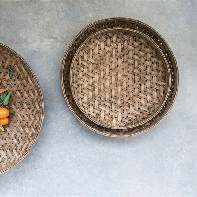 Woven Bamboo Basket ~3 sizes