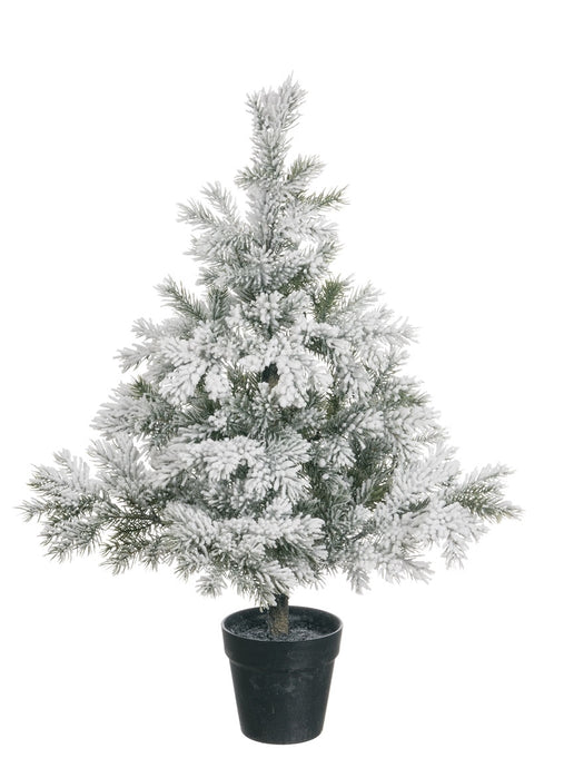 PINE FLOCKED TREE