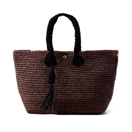 Straw-Bag Convertible in Brown & Black