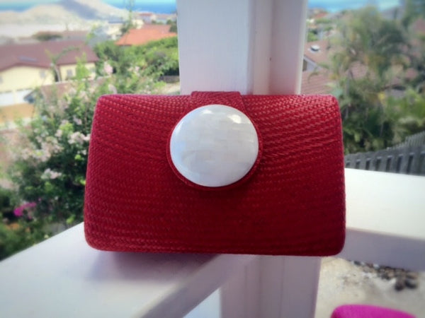 Circle Clutch in Red
