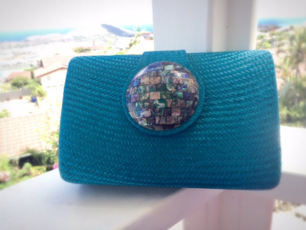 Circle Clutch in Turquoise