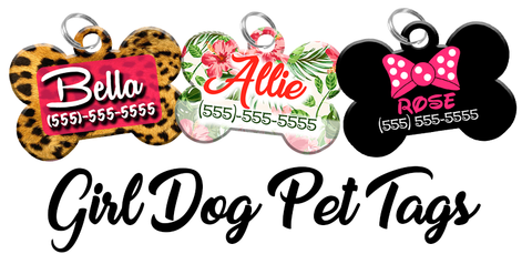 Pet ID Tags for Girl Dogs