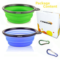 Collapsible Dog Bowl Bundle Pack for Pet Cat Food Water Feeding Portable Travel Bowl